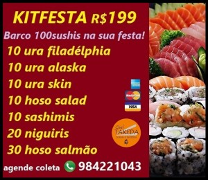 KITFESTA R$199 sushi100pçs
